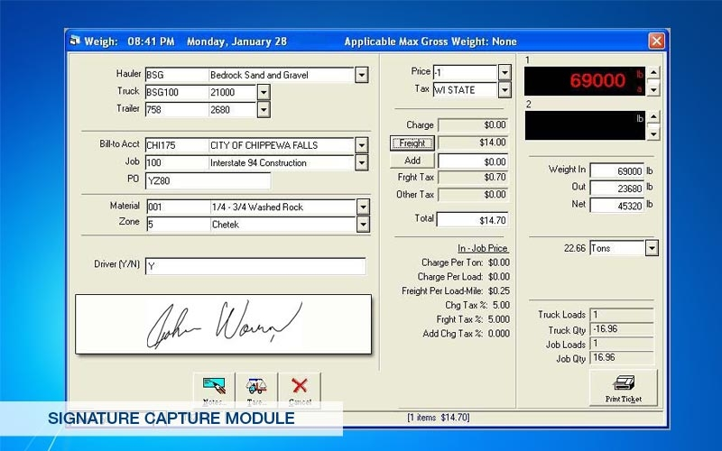 Image of Signature Capture Module